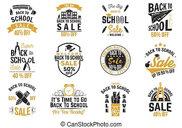 Back to School design. Vector illustration. - Back to School...