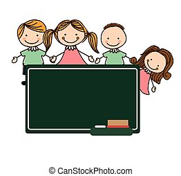 Back to school design, vector illustration