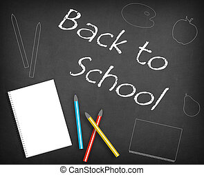 Back to school design with decoration, drawings.