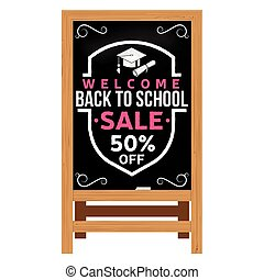 Back to School design. Wooden announcement board.