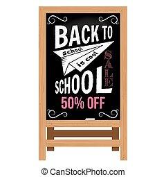 Back to School design. Wooden announcement board.