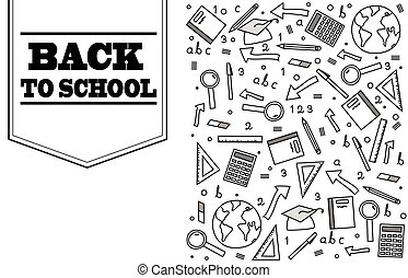 Back to school doodle banner design