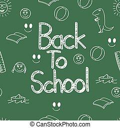 Back to school doodle board art