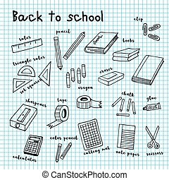 back to school doodle drawing