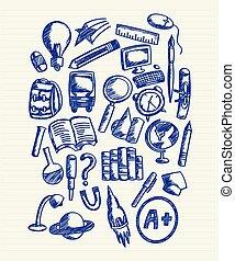 Back to school doodle sketch,