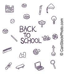 Back to school (Doodle vector art)