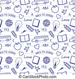 Back to School Doodles Pattern