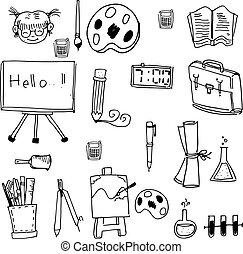 Back to school doodles vector art