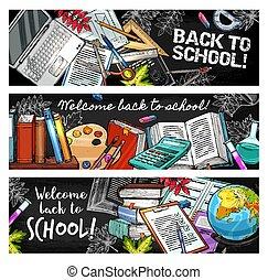Back to School education season sketch stationery