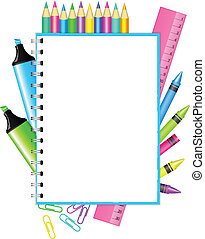 "Back to school - Vector ""Back to school"" frame with colorful..."