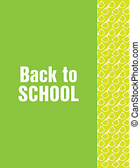 back to school flyer with hipster design