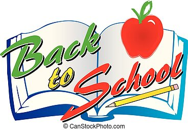Back to School Graphic with Book