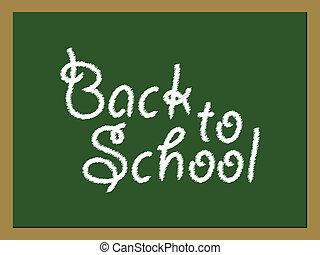 Back to School green board