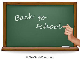 Back to school. Green board
