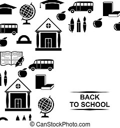 Back to school greeting background
