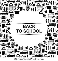 Back to school greeting card round design
