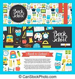 Back to School Horizontal Banners