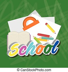 back to school icon set design