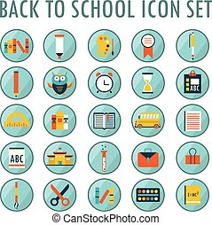 Back to school icon set. Part 2