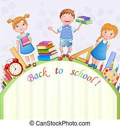 Back to school illustration-