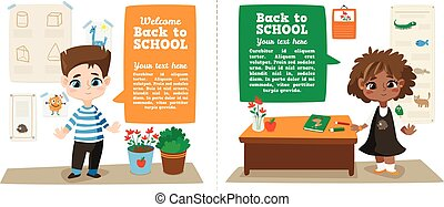 Back to school illustration.
