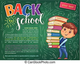 Back to school illustration for your text