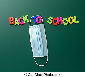 back to school inscription made of multicolored plastic letters
