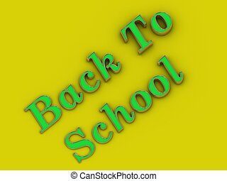 Back to School - inscription of golden letters