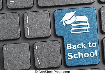 Back to school key on keyboard