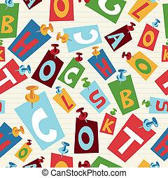 Back to School letters pattern