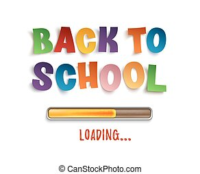 Back To School loading. Colorful design.