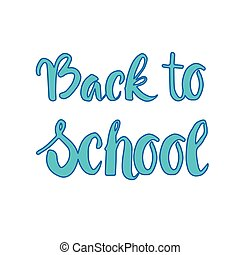 Back To School Logo Colorful Text On White Background