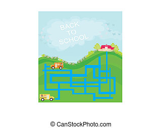 back to school - maze