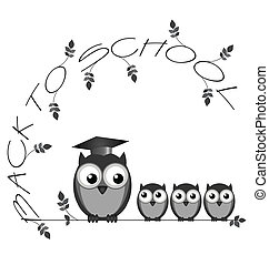 Back to school - Monochrome back to school twig text with ...