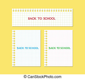 back to school note paper