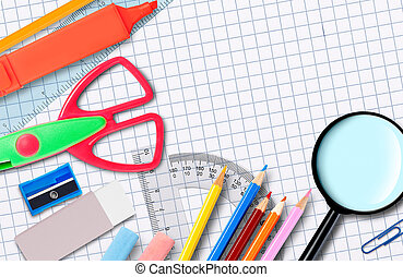 Back to school Notebook and supplies