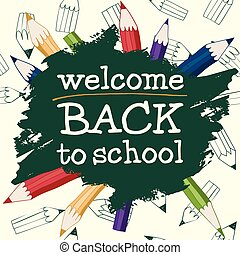 Back to School on a light background.eps