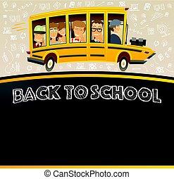 Back to School on Black Chalk Board.