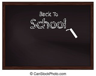 Back to school on chalkboard for background