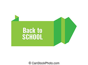 back to school origami design
