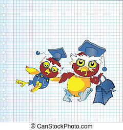 Back to school owl, vector