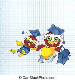 Back to school owl, vector
