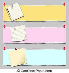 Paper Banner Set - Back to school - Paper Banner Set
