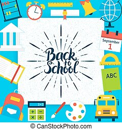 Back to School Paper Template Concept