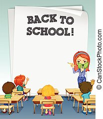 back to school paper template