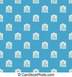 Back to school pattern vector seamless blue