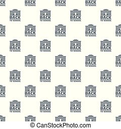 Back to school pattern vector seamless