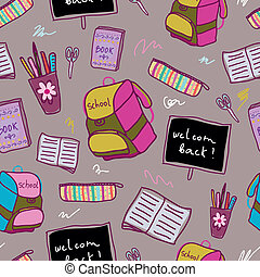 Back to school pattern.Seamless pattern can be used for...