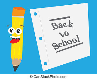 Back to School Pencil and Paper