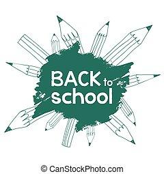 back to school pencils lines